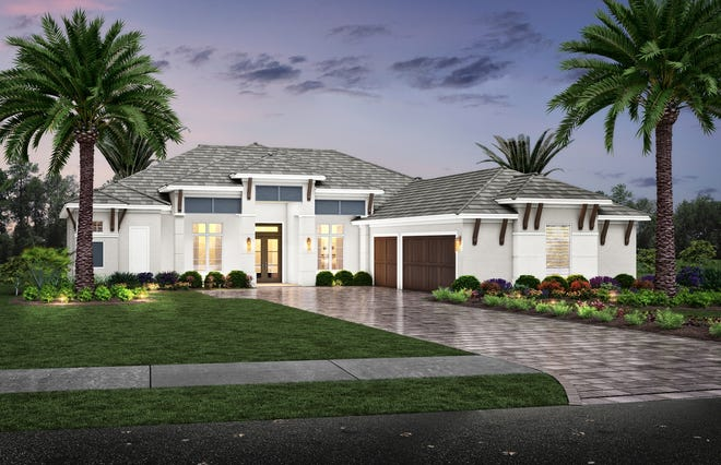 Seagate's three and four-bedroom Esplanade Lake Club floor plans range from 3,299 to 4,123 square feet under air.