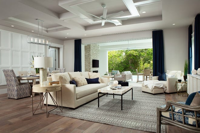 Interiors have been completed by Clive Daniel Home's interior designers Rebekah Errett-Pikosky and Charlie Hansen.
