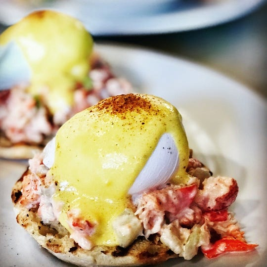 Anthony David's lobster roll Benedict