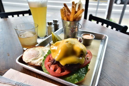The Hangover burger at Bebar in Lodi.