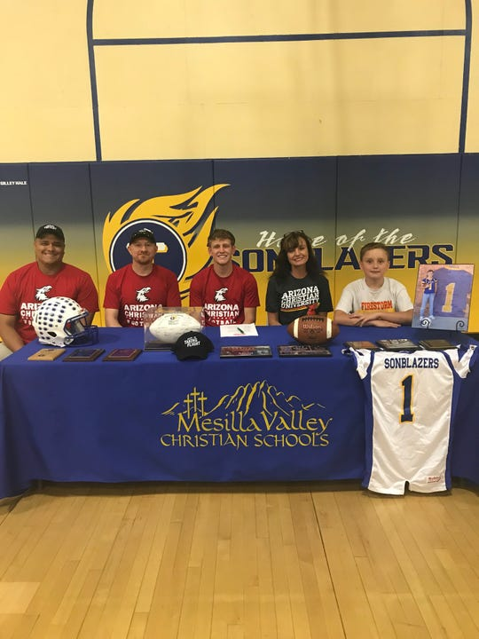 Mesilla Valley Christian's Noah Coyle will play college football at Arizona Christian.