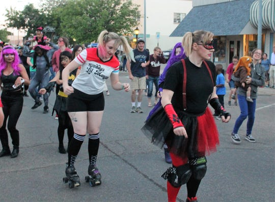 Cosplayers dance at Atomic City Cosplay on New York Avenue Saturday, May 4, 2019.
