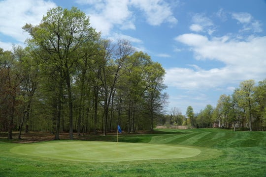 A photo near one of Hilltop's putting greens - on the north side of the course - shows its well-maintained greens and fairways.
