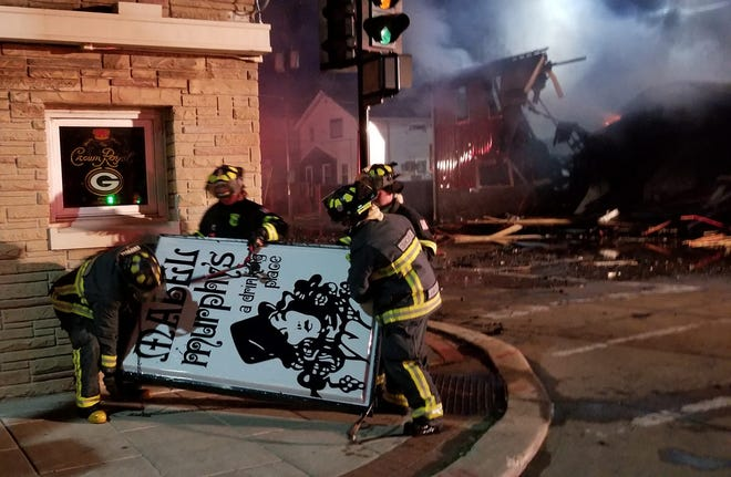 A fire destroyed Mabel Murphy's bar in downtown Oshkosh Tuesday morning.