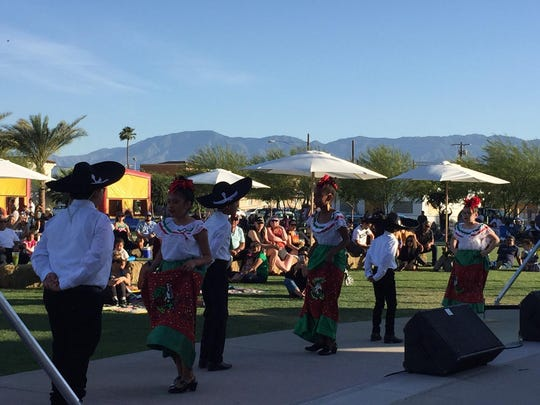 Every Sunday in May, the city of Coachella hosts free Latin music concerts at Veterans Memorial Park.