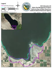 Map of Salton Sea Species Conservation Habitat area, Dec. 2018