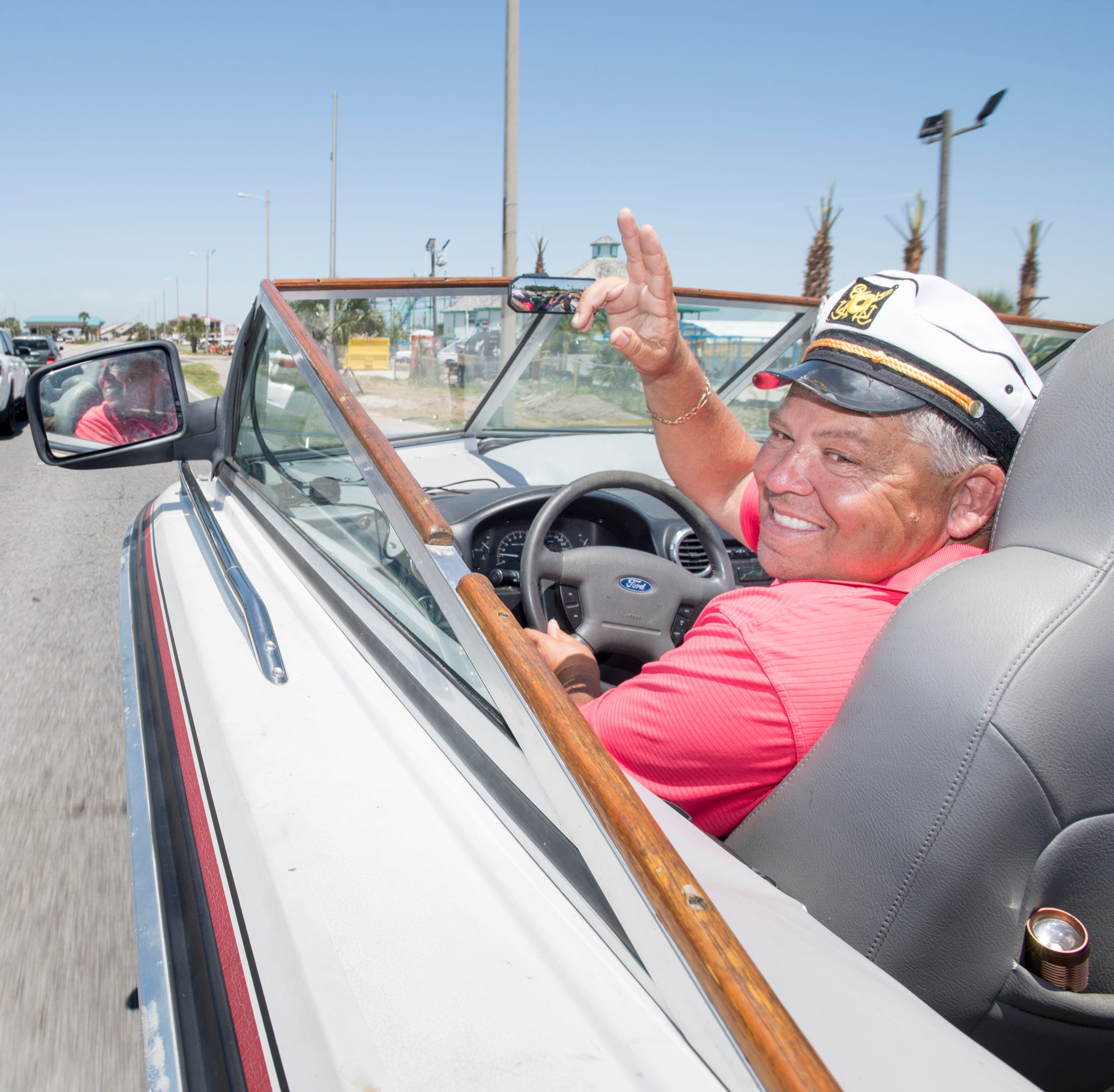 It's part boat, part car and all fun. Meet the captain of Pensacola's boat car