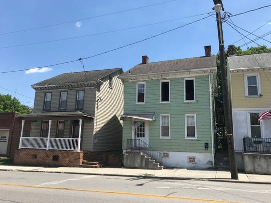 Home in the 400 block of Broadway after a fire at about 3 a.m. on May 7, 2019.