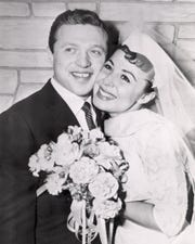 On Dec. 29, 1957, singers Steve Lawrence, 22, and Eydie Gormé, 22, were married in Las Vegas.