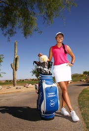 Gabby Lemieux on May. 4, 2019 at McDowell Mountain Golf Club in Scottsdale, Ariz. Gabby Lemieux is the only Native American professional golfer in the country.