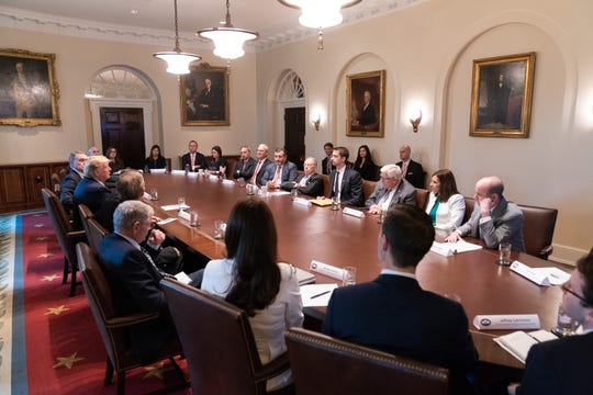 Sen. Martha McSally met with President Donald Trump and other Republican senators at the White House May 7, 2019, about a GOP proposal to overhaul the nation's immigration system.