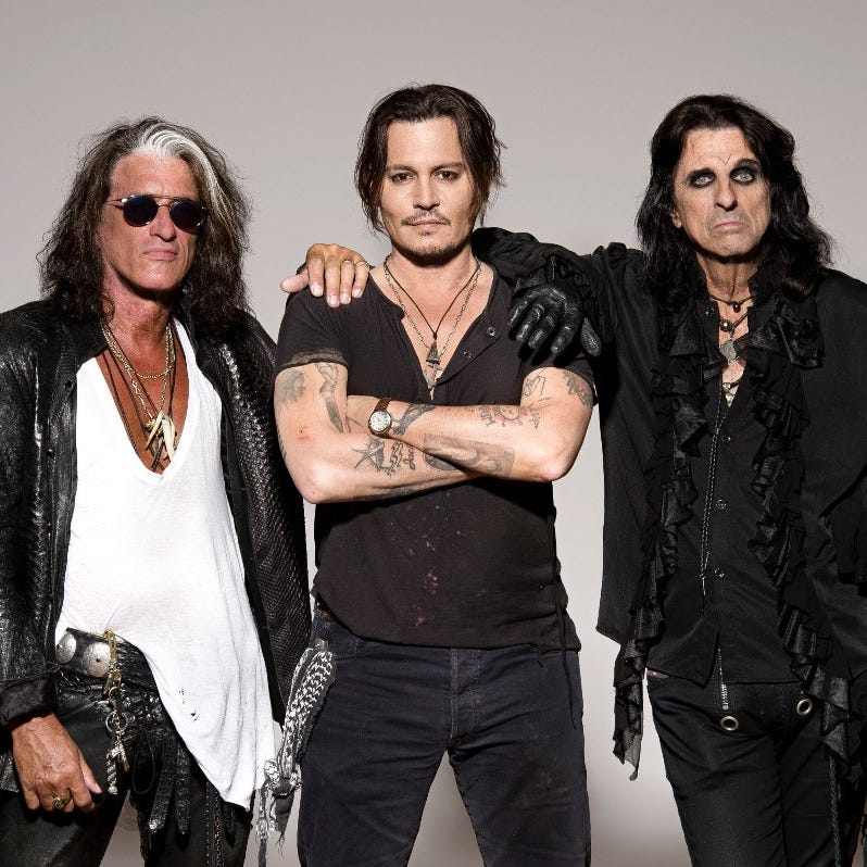 Alice Cooper says Hollywood Vampires album driven by Johnny Depp's 'pent-up frustration'