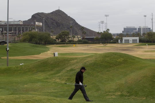 Phil Mickelson plays at Karsten Golf Course during an ASU pro-am and alumni event in 2011.