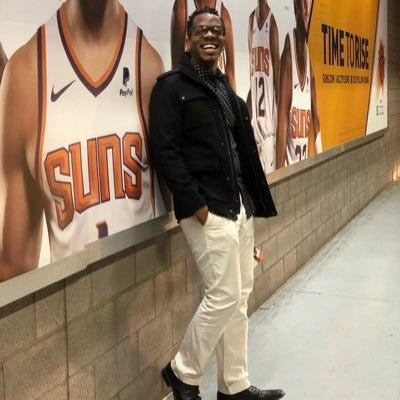 Christopher Owens, also known as Truth B. Told, bought out the upper level at Talking Stick Resort Arena for the Phoenix Mercury season opener May 31.