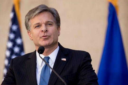 Chris Wray, director del FBI.