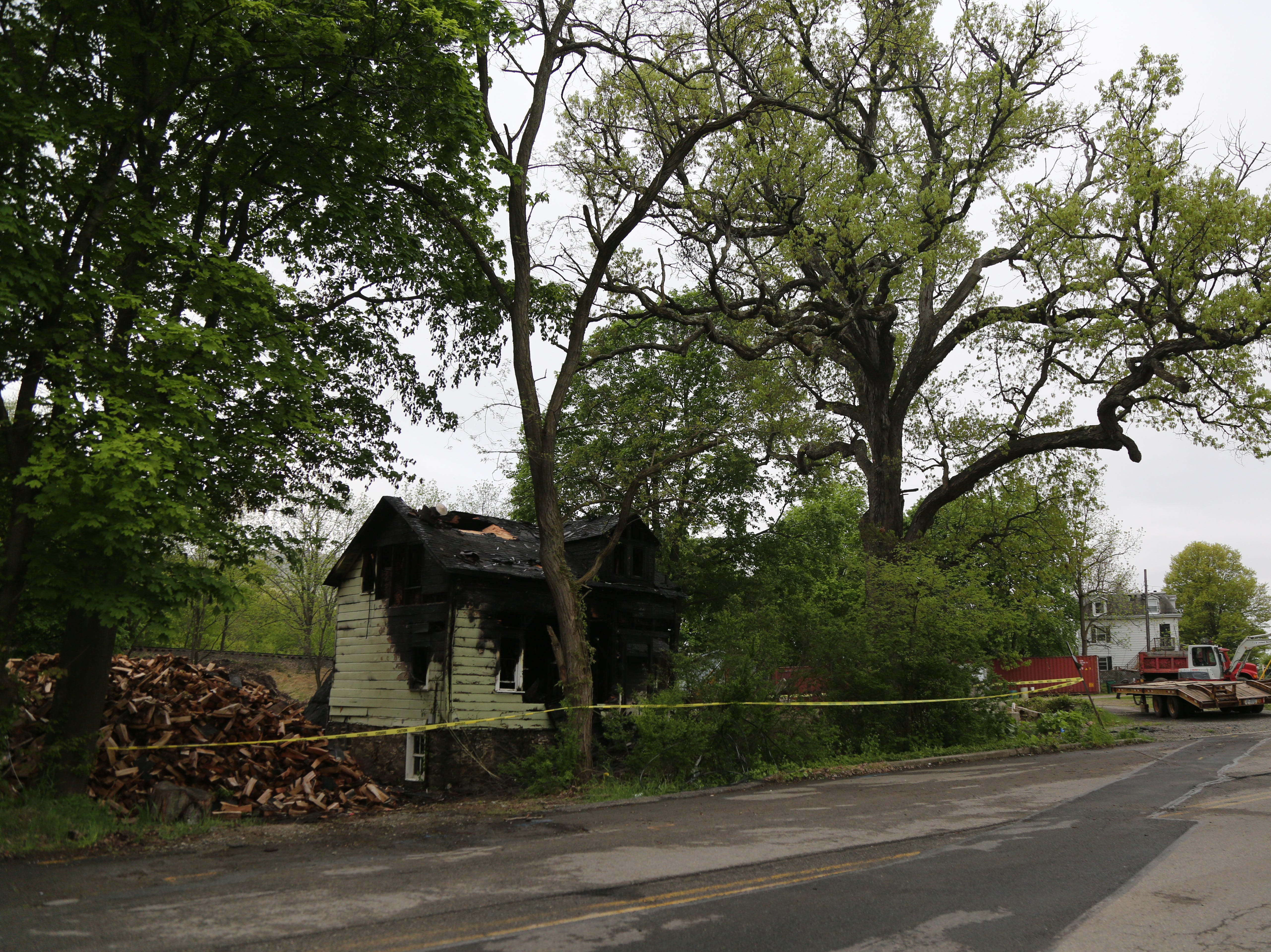 A two-story vacant house was destroyed in an early morning fire on Tuesday, May 7, 2019, in the Town of Fishkill.