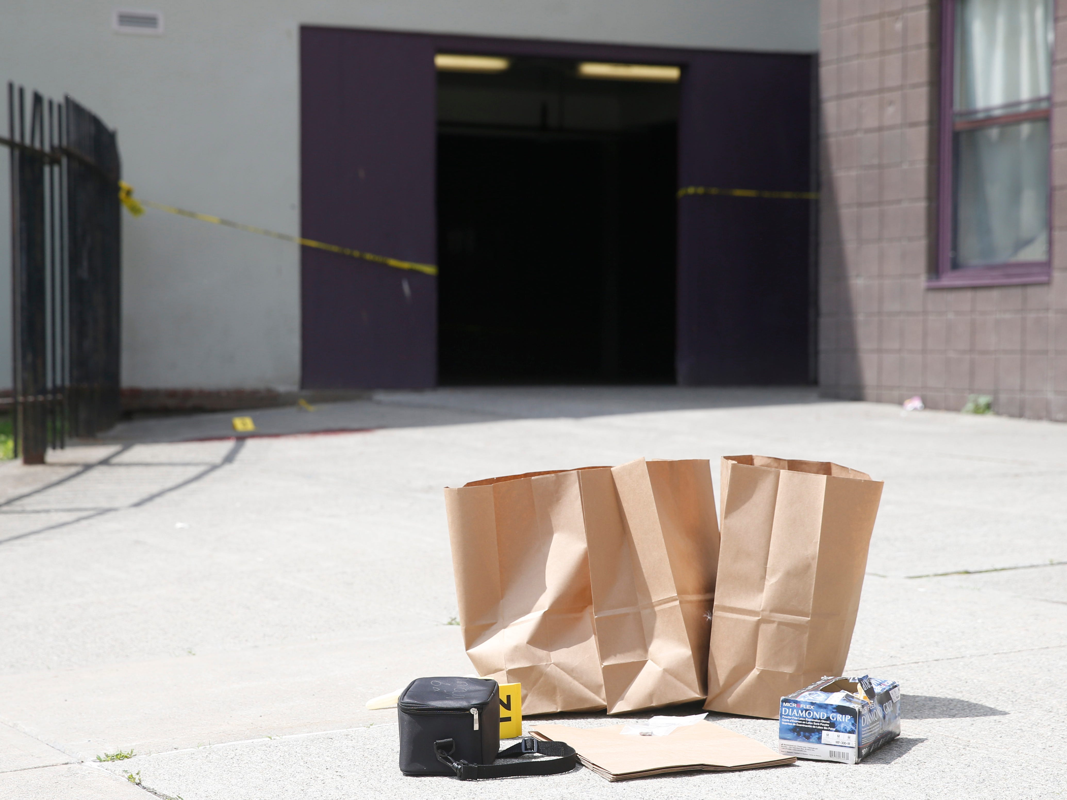 Evidence collected by the City of Poughkeepsie Police during an investigation of a shooting that occurred at the Hudson Gardens Apartments in the City of Poughkeepsie on May 7, 2019.