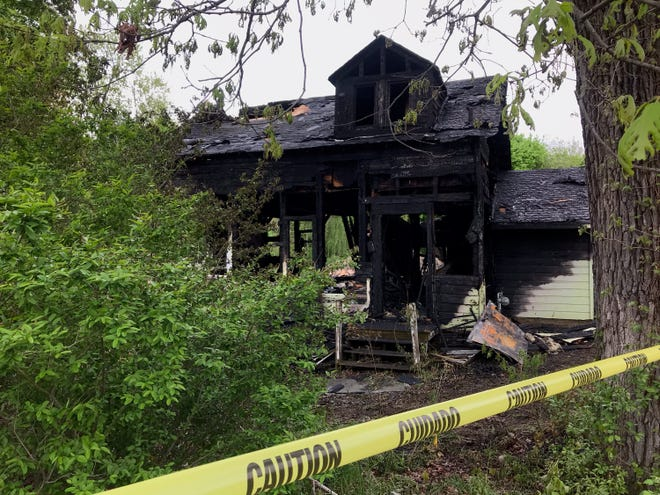 A fire destroyed a vacant Fishkill house early Tuesday morning.