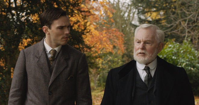 """Nicholas Hoult and Derek Jacobi star in  """"Tolkien."""" The movie opens May 10 at Regal West Manchester."""