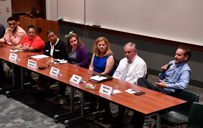 York Stands Up holds a bipartisan countywide candidates forum in the Weinstock Lecture Hall inside the Willman Business Center at York College, Monday, May 6, 2019.John A. Pavoncello photo