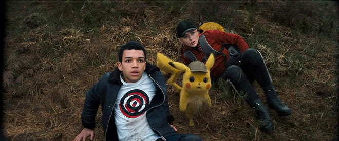 "Kathryn Newton and Justice Smith star in ""Pokemon Detective Pikachu."" The movie opens Thursday, May 9, at Regal West Manchester, Frank Theatres Queensgate Stadium 13 and R/C Hanover Movies."