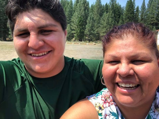 Laurie Thom and her son Dorsey, a student at Feather River College.