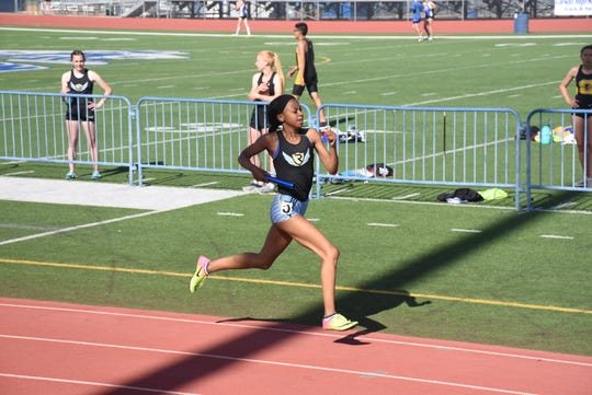 Reed senior Roxy Patterson is the top female sprinter in the north in the 100, 200 and 400-meter races.