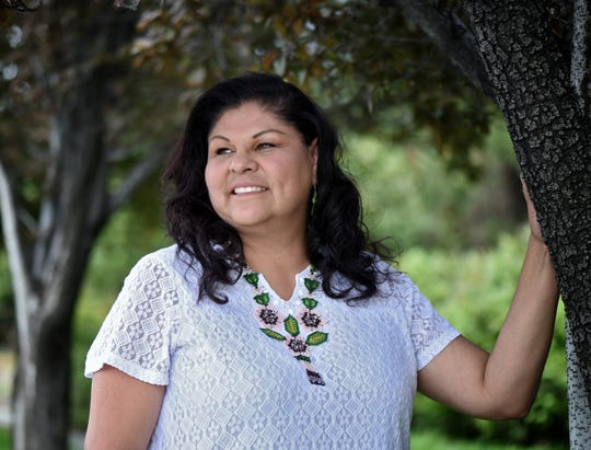 Laurie Thom, Chairperson of the Yerington Piaute Tribe, poses for a photo on Monday May 6, 2019.