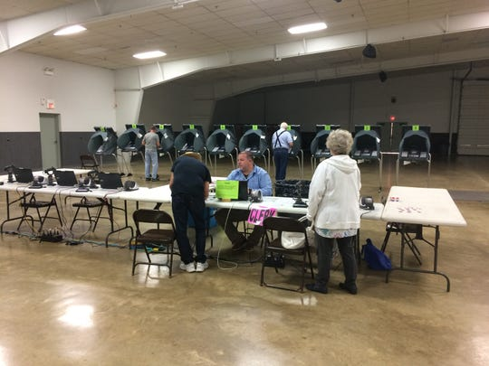 Voters cast their ballots at the Kuhlman Center during Richmond's primary election on Tuesday, May 7, 2019.