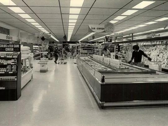 Inside the Star market in 1980.