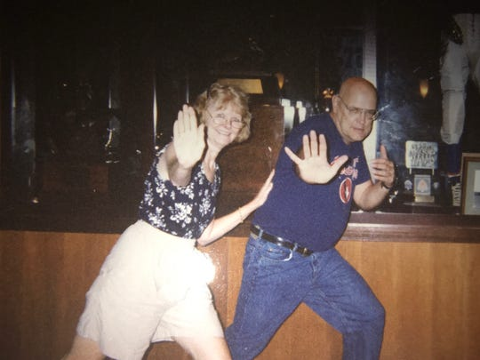 Katie and Bill Kehoe dancing in 1998.