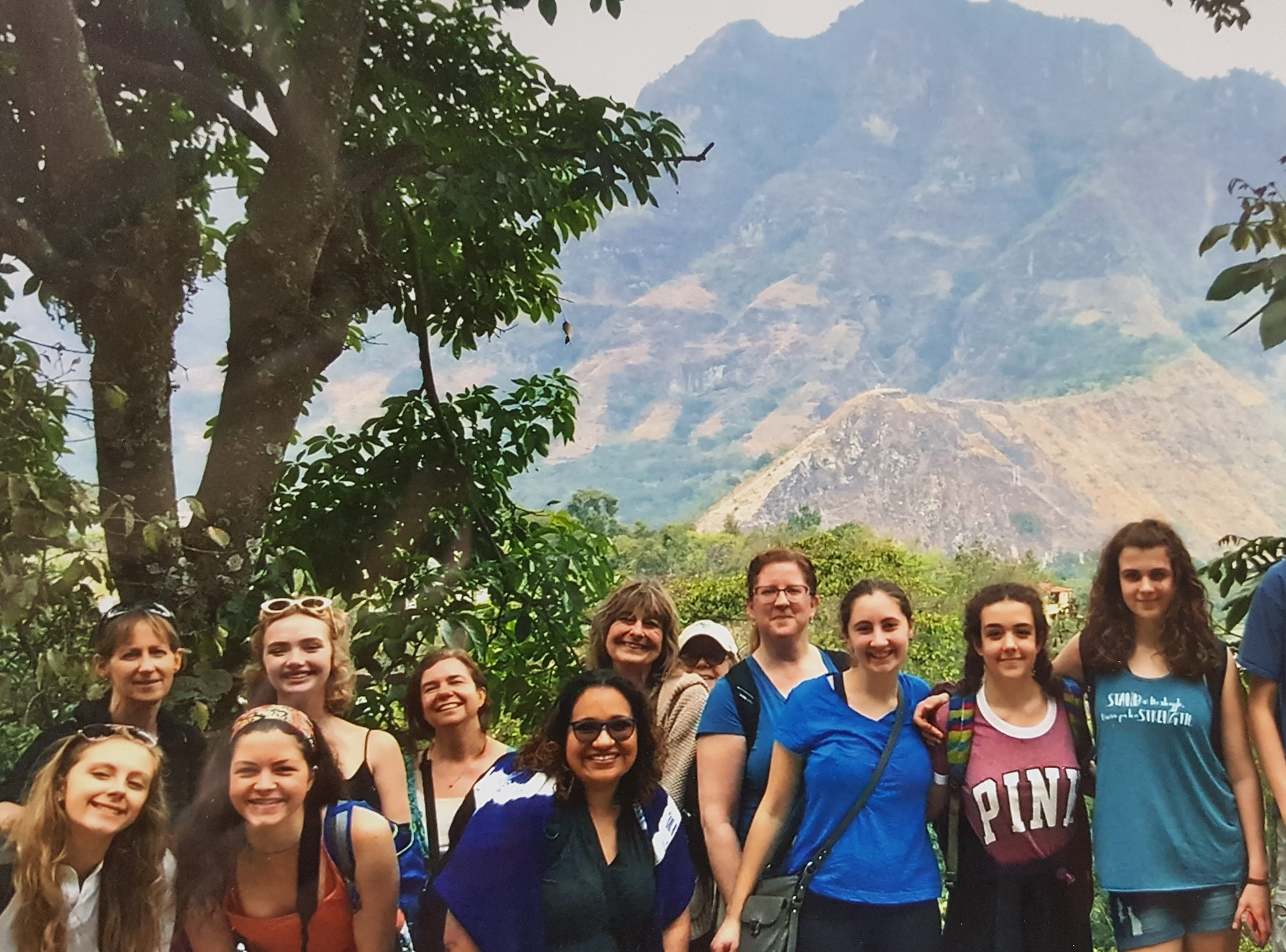 A group of students from Honeoye Falls-Lima High School visited Guatemala. A May 17 art fundraiser will support Ninos Fatima, a home for children that they visited.