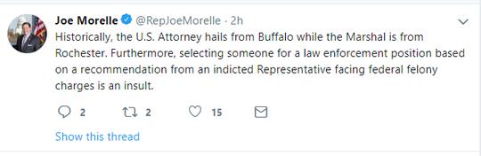 Congressman Morelle Tweet