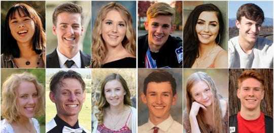 Twelve Redding-area high school seniors  were named finalists for the 2019 Scholar-Athlete of the Year awards on Tuesday.