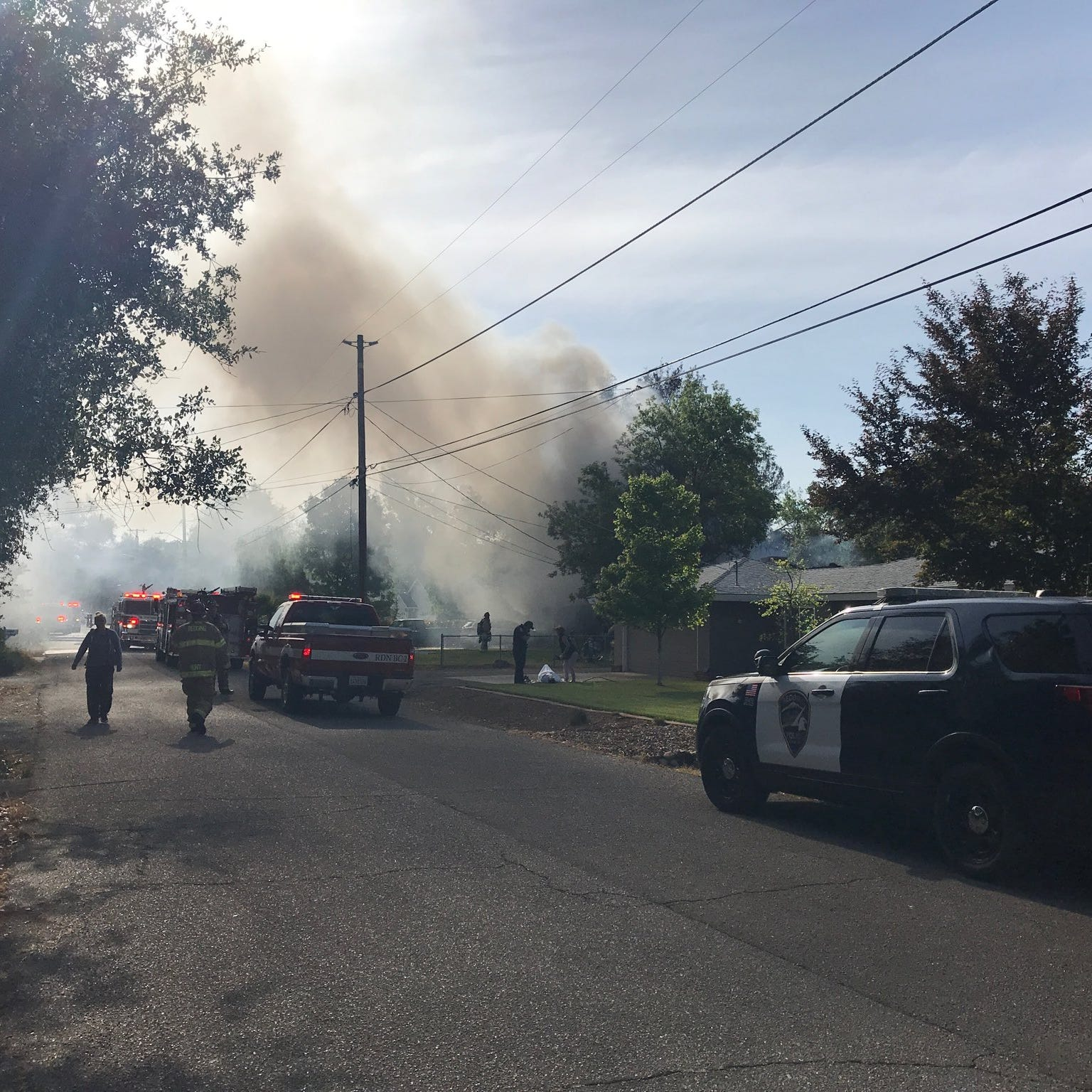 UPDATED: Firefighter and resident hospitalized in house fire