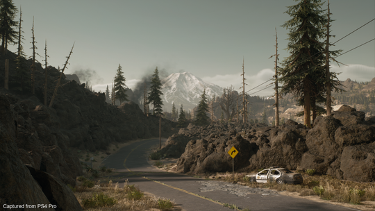 "A fictional version of Oregon's Mount Bachelor as seen in ""Days Gone,"" a PlayStation 4 video game that released in April."