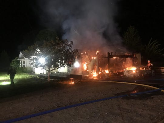 Four adult residents and their pets escaped a fire Monday morning that destroyed a house east of Dallas.