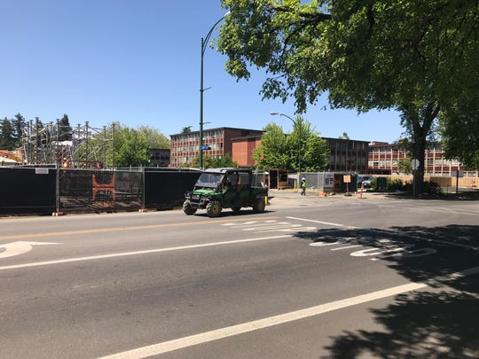 The new Hayward Field project at the University of Oregon is scheduled to be completed in the spring of 2020.