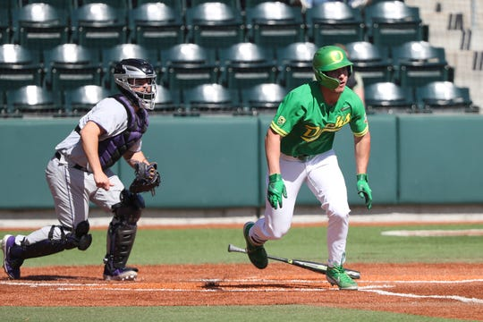 Oregon's Aaron Zavala is a freshman this season. He is a graduate of South Salem High School.