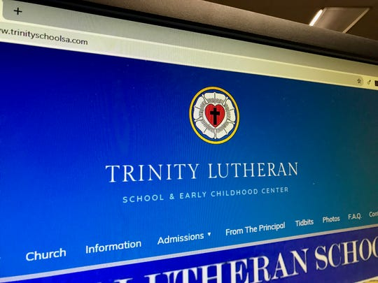 A screenshot of the official website for Trinity Lutheran School & Early Childhood Center of San Angelo.
