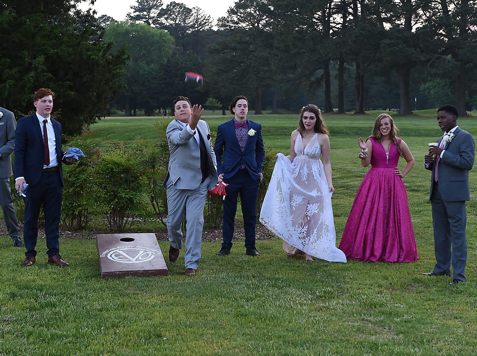 Salisbury Christian School students attend prom on Saturday, May 4, 2019.