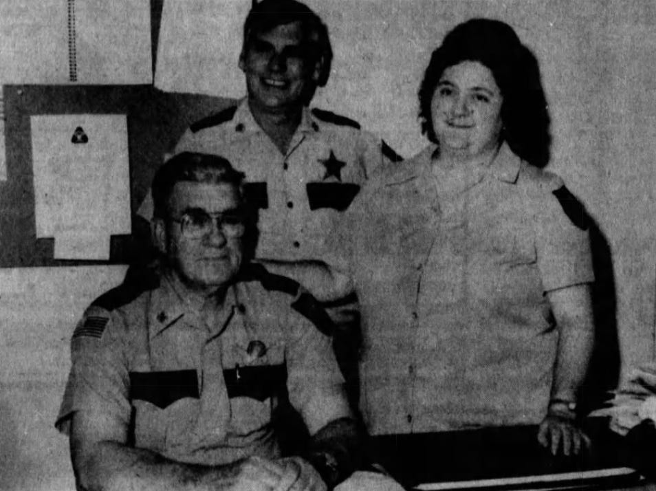 Shown, from left to right, are Charles Bozman, Robert Jones and Cindy Elza, after completing training with the Somerset County Sheriff's Office in cardiopulmonary resuscitation in June 1986.