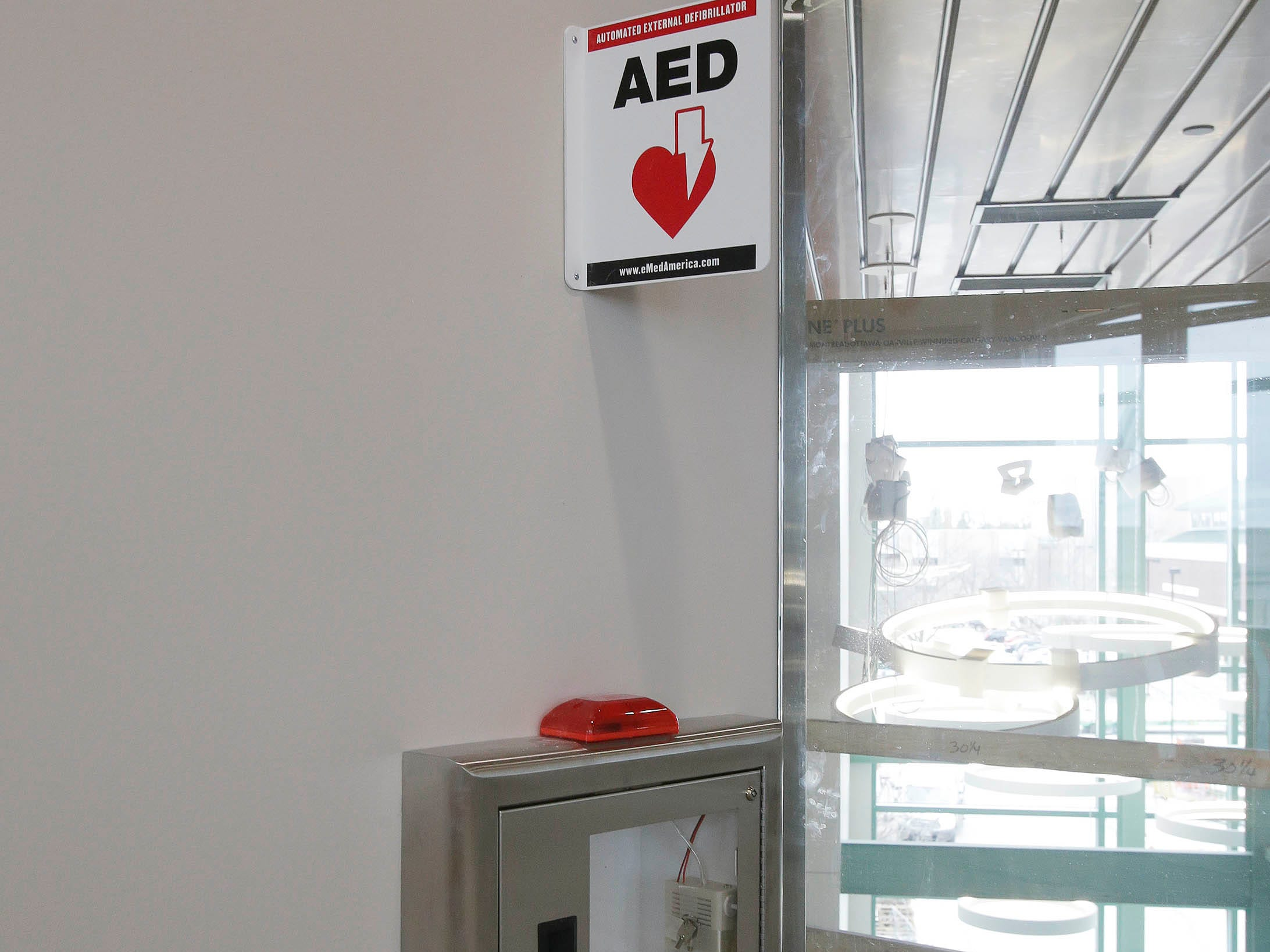 The Sheboygan Council Chamber will feature an AED as seen, Tuesday, May 7, 2019, in Sheboygan, Wis. Sheboygan's City Hall will see many improvements in the $10.5 million improvement project.