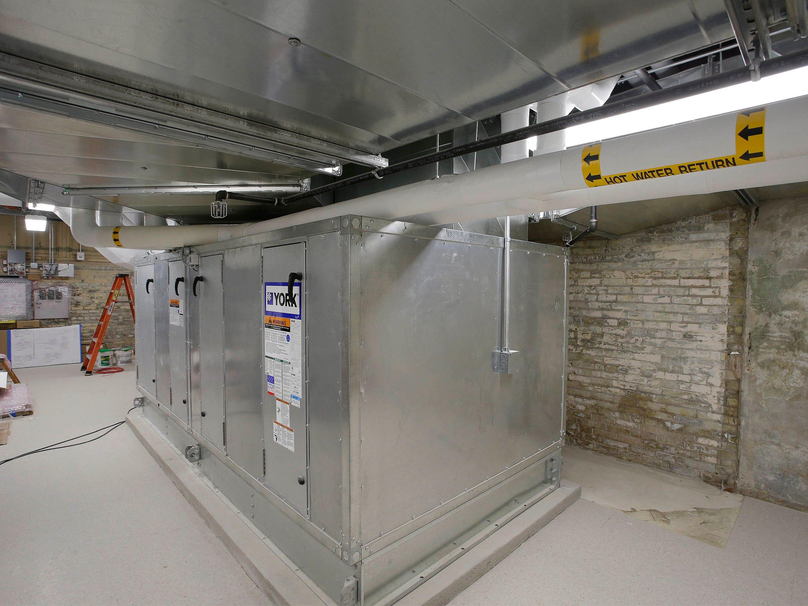 New air handling equipment inside Sheboygan City Hall as seen, Tuesday, May 7, 2019, in Sheboygan, Wis.