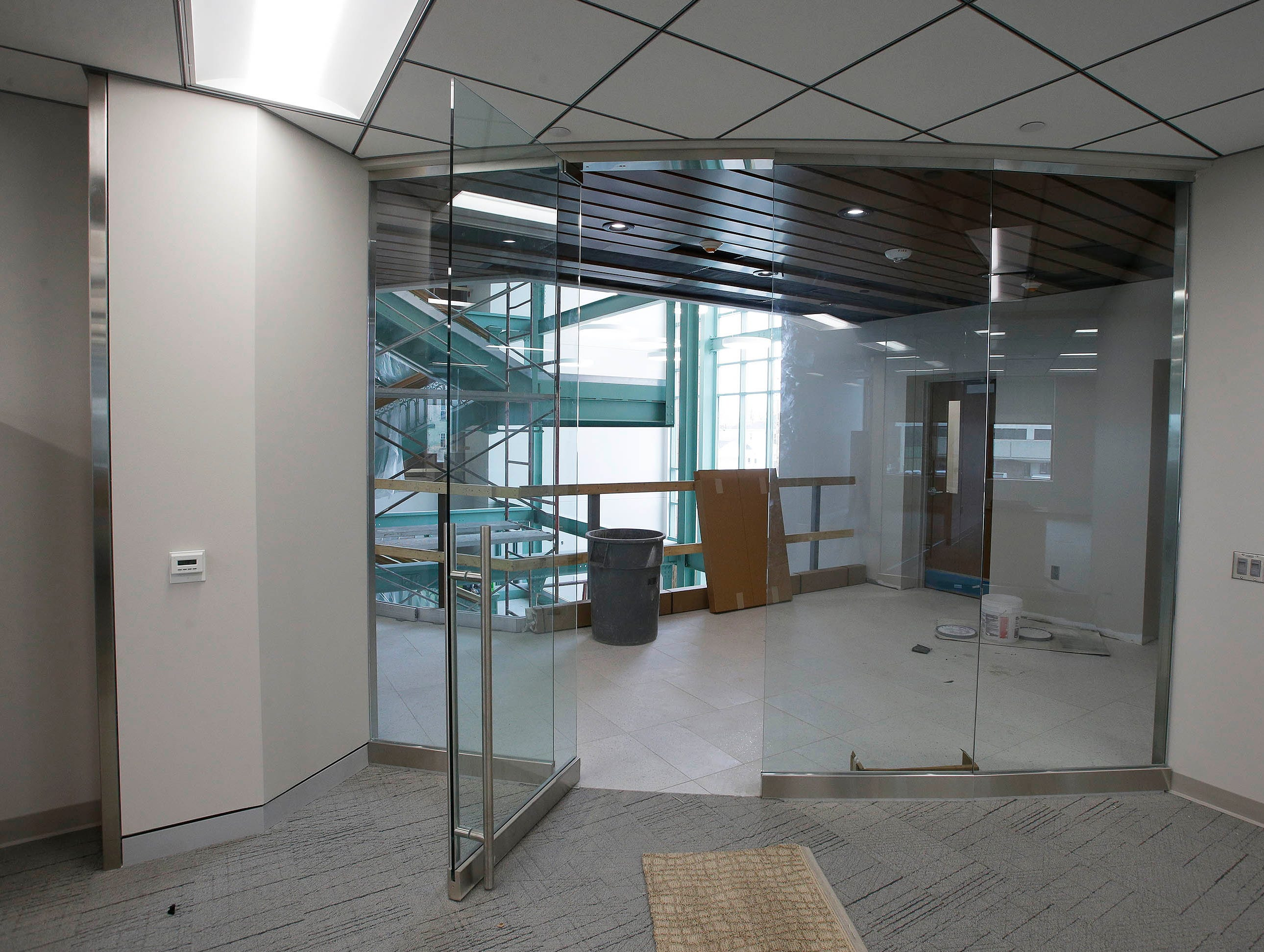 According to Director of Public Works David Biebel, in remodeling Sheboygan City Hall care was taken to make sure the city's work is more transparent by using more glass in remodeling, Tuesday, May 7, 2019, in Sheboygan, Wis.