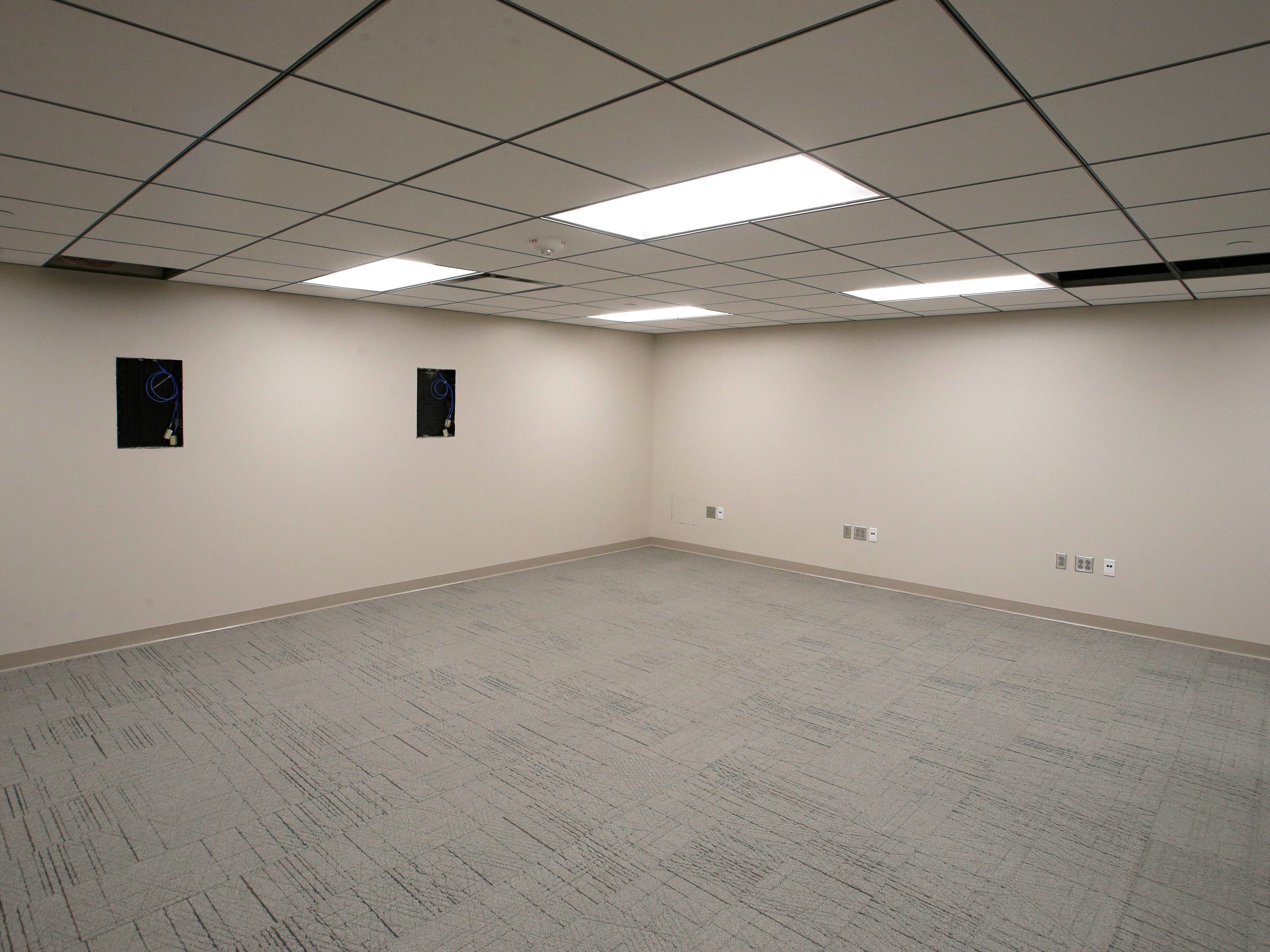 A basement training room in the newly remodeled Sheboygan City Hall as seen, Tuesday, May 7, 2019, in Sheboygan, Wis.