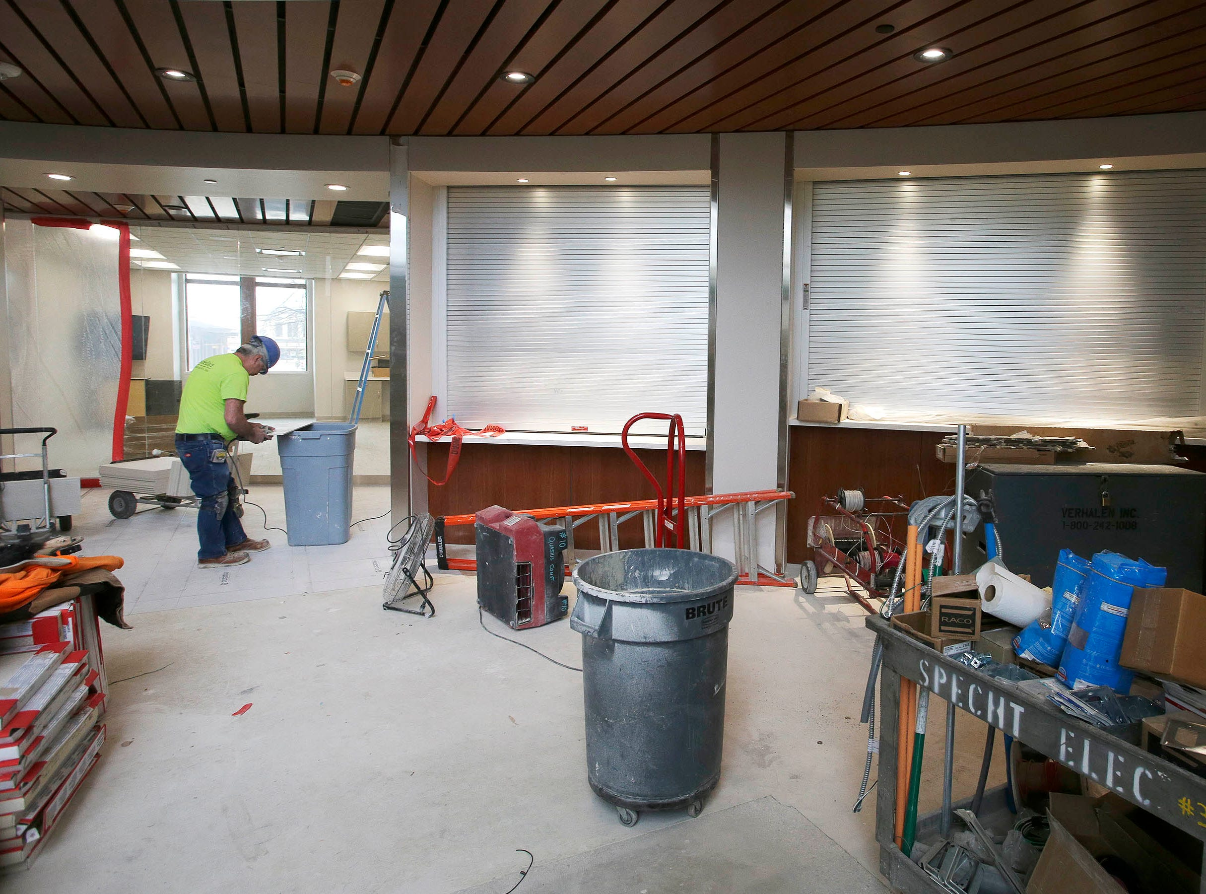 The entrance area on the first floor at Sheboygan City Hall as seen, Tuesday, May 7, 2019, in Sheboygan, Wis. The facility is going through a complete renovation.