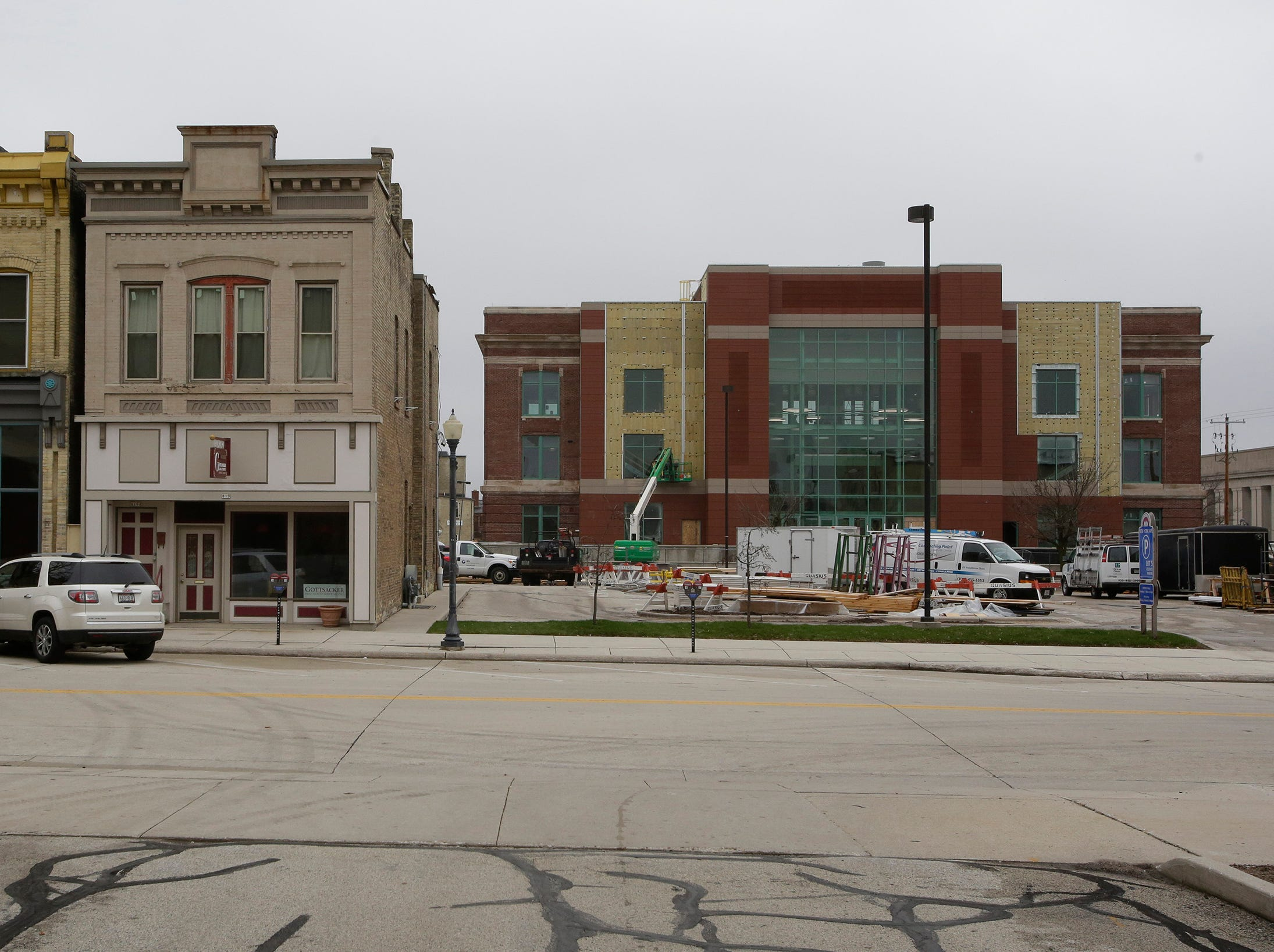 The Sheboygan City Hall can be seen from Mead Public Library, as seen, Wednesday, May 1, 2019, in Sheboygan, Wis.
