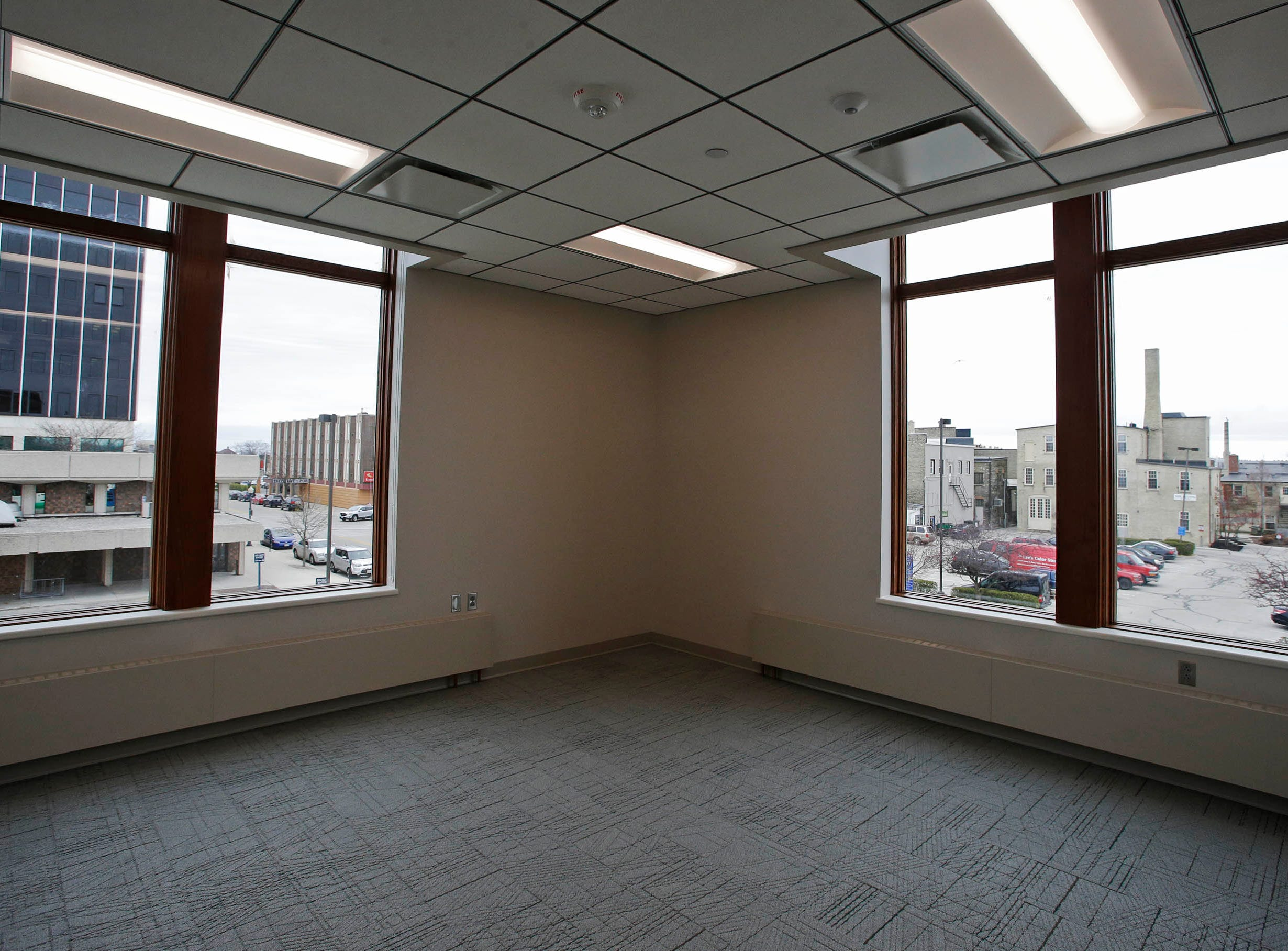 A view from the Sheboygan City Hall to downtown Sheboygan, Tuesday, May 7, 2019, in Sheboygan, Wis.