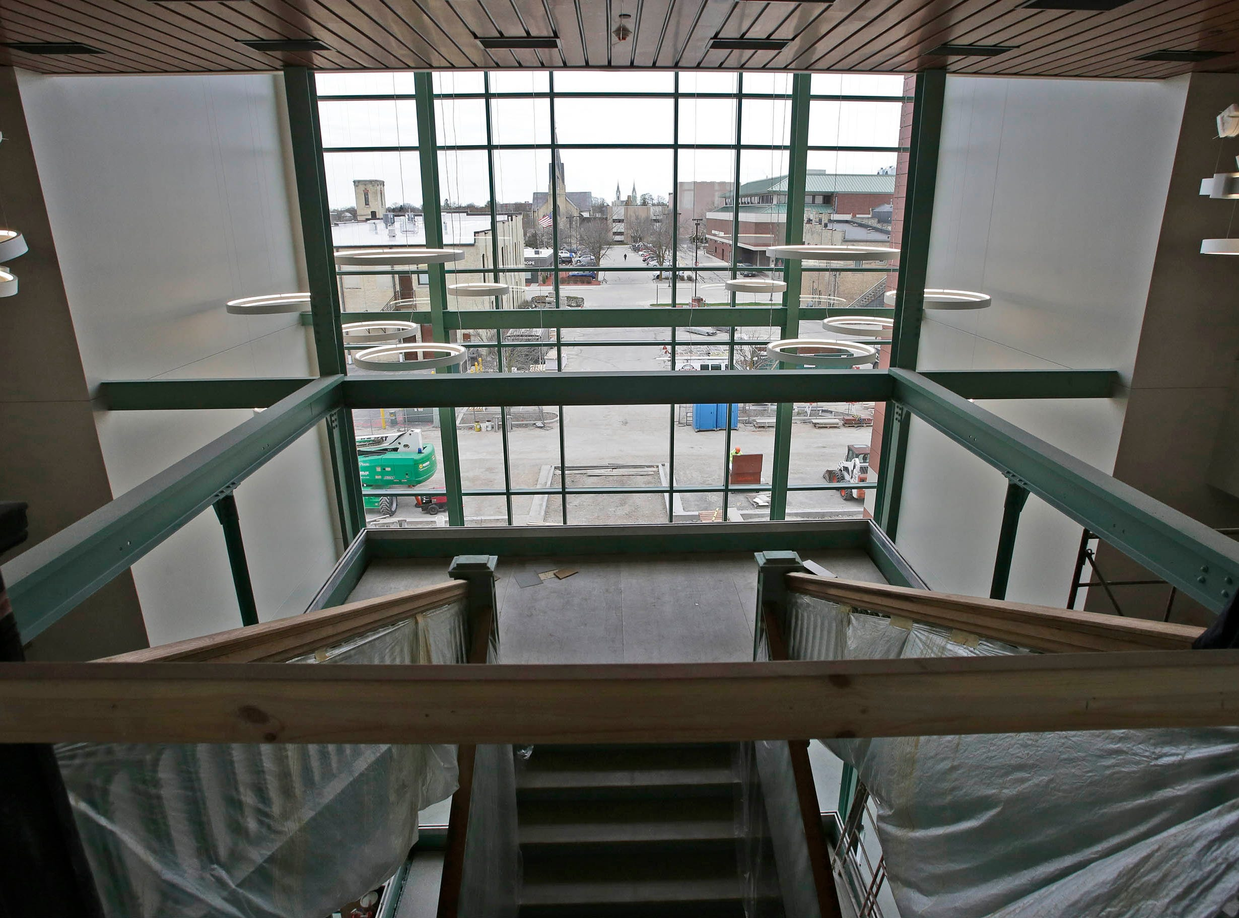 A view of the new entrance area at Sheboygan City Hall as seen, Tuesday, May 7, 2019, in Sheboygan, Wis. The $10.5 million dollar project completely rebuilt the inside of the building which still retains many touches of its original character.